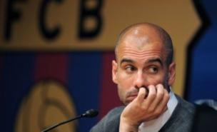 Pep Guardiola has announced he is taking a break after leaving Barcelona at the end of the season (Pic: LLUIS GENE/AFP/GettyImages)