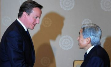 David Cameron to visit Aung San Suu Kyi after touting UK weapons to Japan