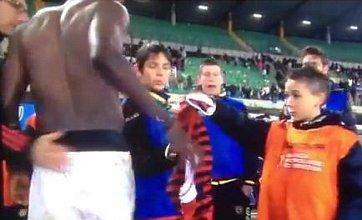 Ball boy refuses Sulley Muntari's shirt after he scores winner for AC Milan