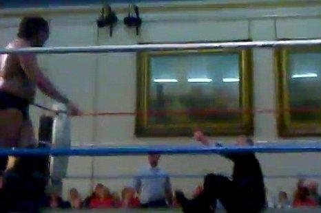 Wrestler Kade Callous grapples with Lembit Opik