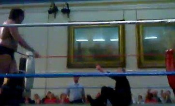 Lembit Opik dragged into ring by 18-stone wrestler during match