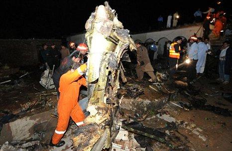 Pakistan plane crash site picture Islamabad Rawalpindi
