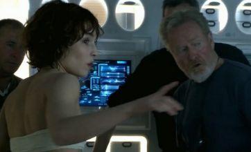 Prometheus video shows stars praising 'fantasy director' Ridley Scott