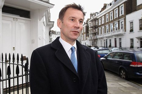 Jeremy Hunt, the Secretary of State for Culture, Media and Sport