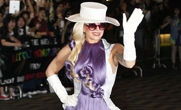 Lady Gaga channels Cousin Itt with hairy purple dress in Hong Kong