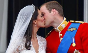Kate and William's royal wedding balcony kiss 'most uplifting' TV moment