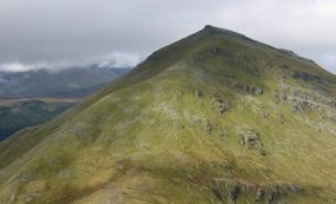 The microlight came down on Ben More (Richard Webb)