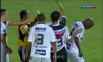 Who's bad, referee? Brazilian star moonwalks to ref after yellow card