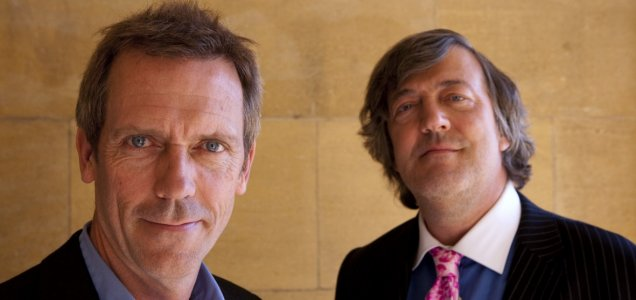 Stephen Fry with Hugh Laurie