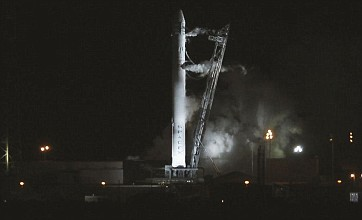 Launch of SpaceX's first commercial flight to International Space Station aborted