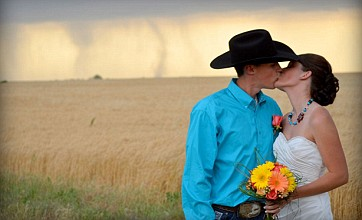 Wedding snaps bring whole new meaning to 'whirlwind romance'