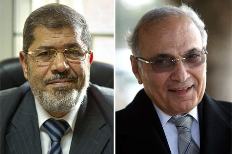 Mohammed Mursi Ahmed Shafiq Egypt presidential election run-off