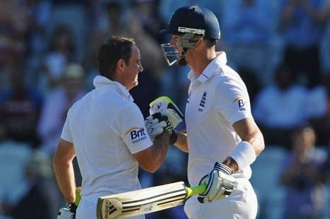 Andrew Strauss and Kevin Pietersen England v West Indies