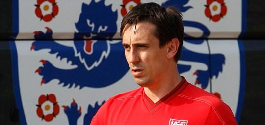 England's coaching staff member Gary Neville