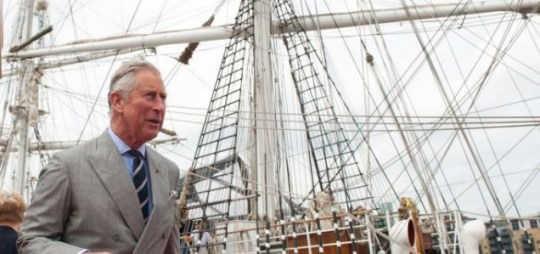 Prince of Wales on royal barge