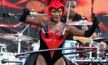 Grace Jones tipped for I'm A Celebrity after hula-hooping jubilee performance