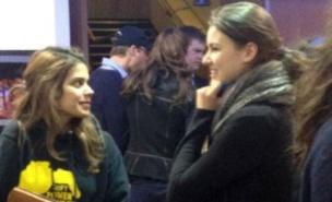 William and Kate slipped into the background during a night out to watch The Avengers (Twitter)