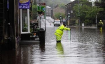 Clean-up operations under way in northern England after torrential rain