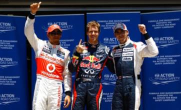 Sebastian Vettel beats Lewis Hamilton to European Grand Prix pole
