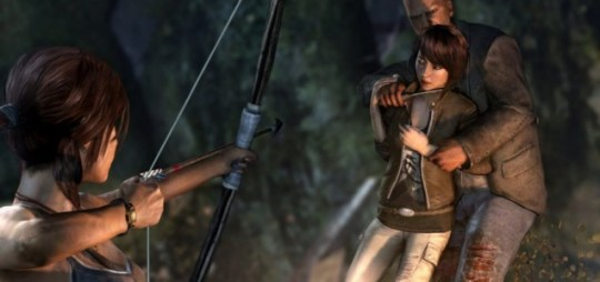 Tomb Raider - never bring a knife to a bow fight