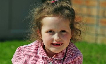 Girl, 6, takes first ever steps using £1,900 special frame
