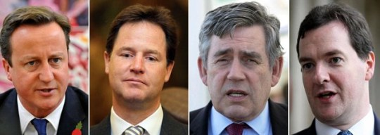 David Cameron, Nick Clegg, leveson inquiry