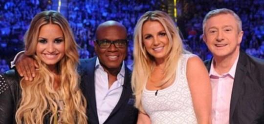 Louis Walsh, Britney Spears, Demi Lovato and LA Reid X FActor USA