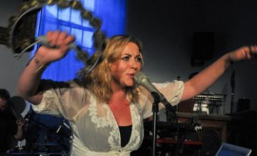 Charlotte Church rocks out with boyfriend's band at Hay Festival