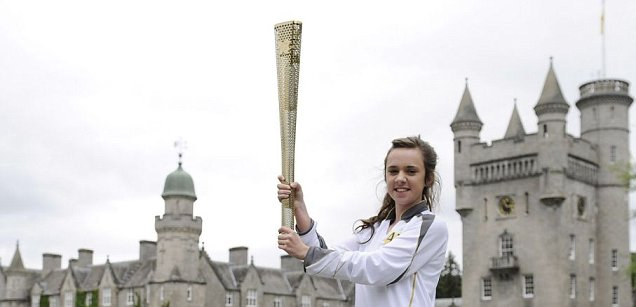 Olympic Torch in Scotland