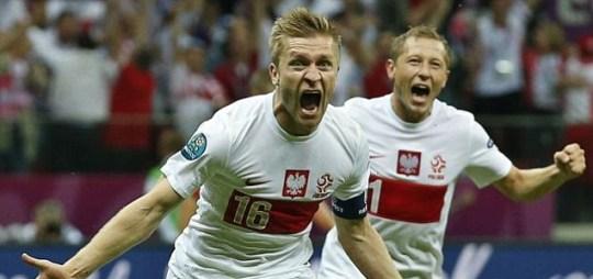 Euro 2012 Poland v Russia football