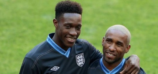 Danny Welbeck and Jermain Defoe of England