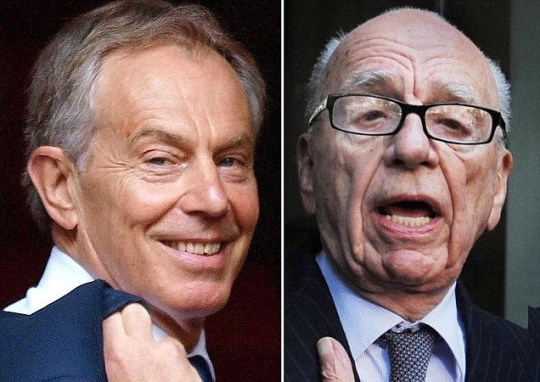 Rupert Murdoch, Tony Blair