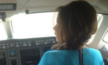 Victoria Beckham turns pilot in Vancouver trip Twitter snap