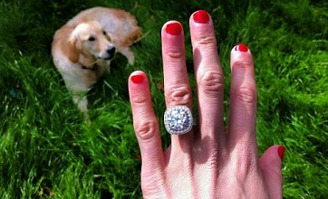 Peaches Geldof shows off huge diamond engagement ring on Twitter