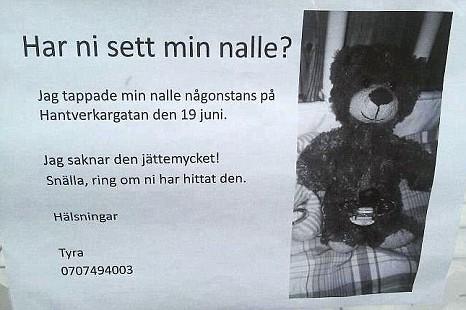 Teddy, Stockholm, Tyra Blomqvist, Sweden, Kungsholmen, Facebook