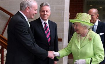 Queen shakes hands with Sinn Fein's Martin McGuinness