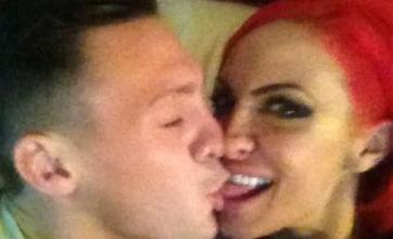 Jodie Marsh and Kirk Norcross show off their kissing skills on Twitter