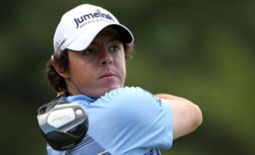 Crossbar challenge: Rory McIlroy hits bar from 150 yards