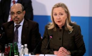 Hillary Clinton has condemned the Syrian army's attack on Tremseh (PA)
