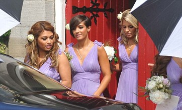 The Saturdays look stunning in lilac as Una Healy and Ben Foden marry