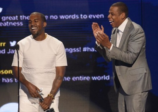 Kanye West and Jay-Z accept the award for Video of the Year
