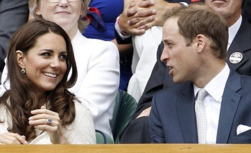 Prince William and Kate arrive at Wimbledon to cheer on Andy Murray