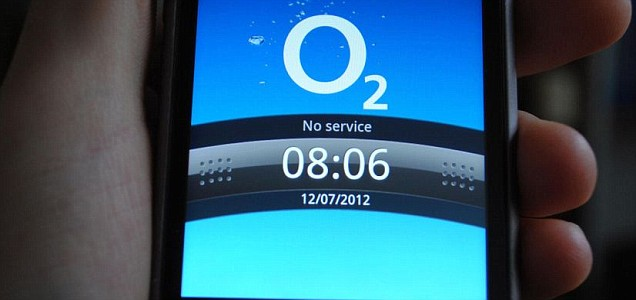 mobile phone on the O2 network