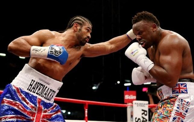 David Haye in his last bout against Dereck Chisora