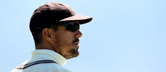 Kevin Pietersen looks on during the match between Surrey and Lancashire