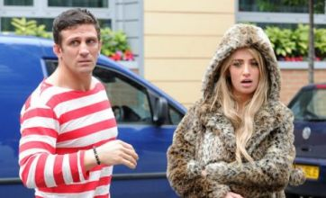 Alex Reid and Chantelle look loved-up as they leave new daughter at home
