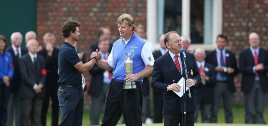 Golf sport The Open Adam Scott Ernie Els