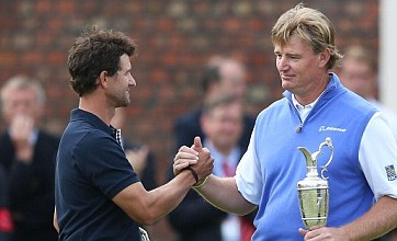 Adam Scott's nightmare late slump hands Ernie Els Open victory