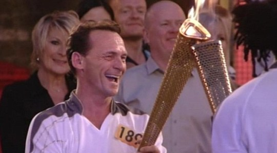 Billy Mitchell got his moment of Olympic triumph as EastEnders went live