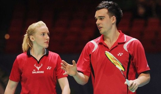 British mixed doubles pair Imogen Bankier and Chris Adcock